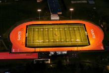 Churchville-Chili Stadium Turf Field at Night
